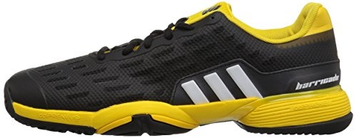 Pictures of adidas Kids' Barricade xJ Tennis Shoe BY9918 Black/White/Yellow 5