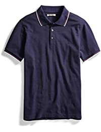 Mens Short-Sleeve Washed Pique Polo Shirt