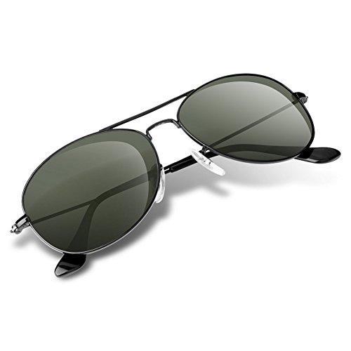 de nuances Lunettes aviateur unisexe Wenlenie femmes ovale pour W3362 G15 Green soleil U6W5q