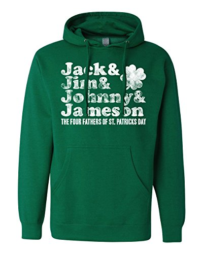 Jack Jim Johnny Jameson Fathers of St Patrick's Day Sweatshirt | St Patty's Hoodie (3X Large, Kelly (Fathers Day Pullover Hoodie)