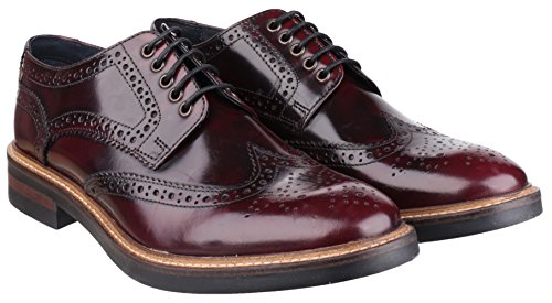 Base London  Woburn,  Herren Brogue Schnürhalbschuhe Bordeaux