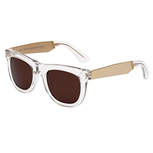 RETROSUPERFUTURE Sunglasses Ciccio 894 Francis Crystal with Brown Zeiss - Zeiss Lens Sunglasses
