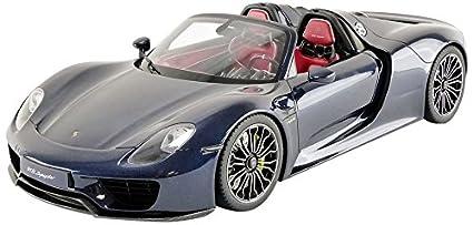 Amazon Com Porsche 918 Spyder Coupe Dark Blue 1 12 Model Car By Gt