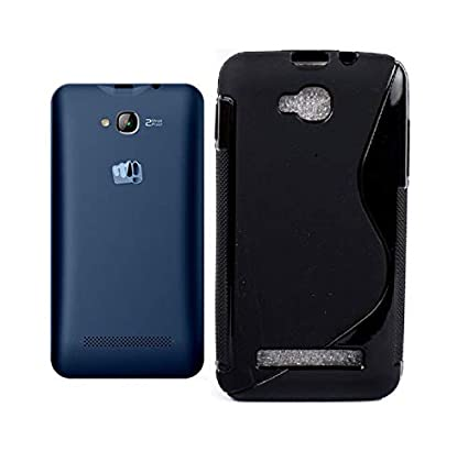 Azzil Flexible Soft Back Cover for Micromax Bolt Q324  Black Line  Mobile Phone Cases   Covers