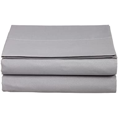 Cathay Luxury Silky Soft Polyester Single Flat Sheet, King Size, Gray