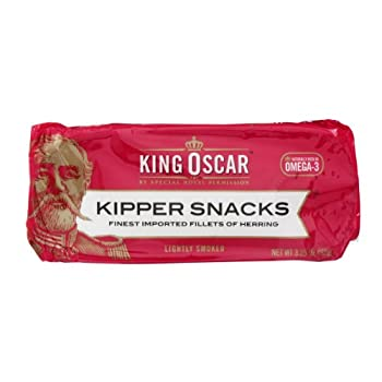 King Oscar Kipper Snacks Finest Imported Fillets of Herring, 3.25 OZ (Pack of 18)