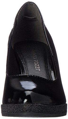 Marco Tozzi Damen 22440 Plateaupumps Schwarz (Black Patent)