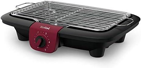 Tefal BG90E5 Easygrill Adjust Barbecue de table électrique (2300 W, surface de cuisson 720 cm²) Noir/bordeaux