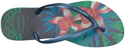 Pictures of Havaianas Women's Slim Flip Flop Sandals Tropical Slim Tropical Sandal 2