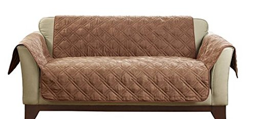 Sure Fit® Deluxe Non-skid Waterproof Loveseat Cover in Camel Brown