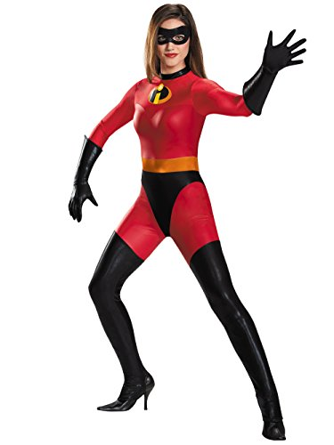 Disney Disguise Women's Mrs. Incredible Bodysuit Costume, Red, -
