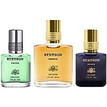 Stetson OMNI 3pc Set - 1oz Cologne Perfume (Original) + 0.5oz Cologne Perfume (Black) + 0.5oz Cologne Perfume (Fresh)