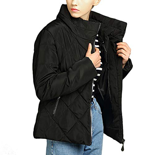 Caldo Stand Zipper Jacket Warmer Abbigliamento Russian Capispalla Collar Nero Down Coat PSz6Sc