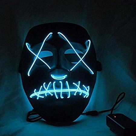 Dottiete Masks - Halloween Mask Led Purge Election Funny Festival Costume Supply Glow Dark - Light Masque Block Cloak Allhallow - 1PCs]()