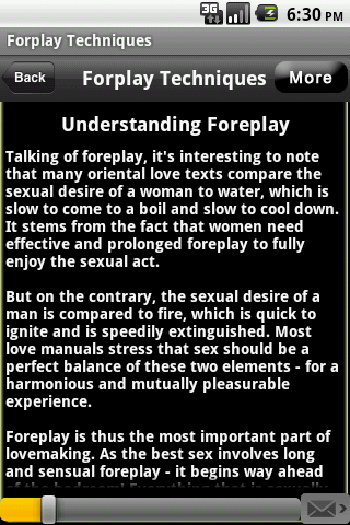 Foreplay tips