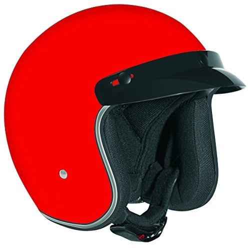 Vega X380 Open Face Helmet (Red, Large)