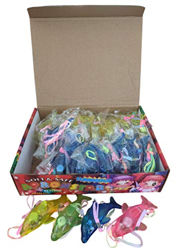 The Electric Mammoth Set of 36 Light Up LED Jelly Sea Animals Necklaces Lanyards (Dolphin) (Animals Sea Electric)
