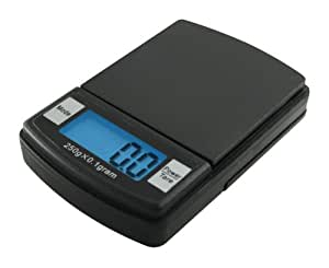 Fast Weigh MS-600-BLK Digital Pocket Scale, 500 by 0.1 G