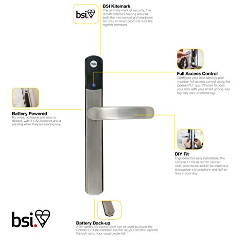Yale SD-L1000-SN Conexis L1 Smart Lock PVCu and Composite