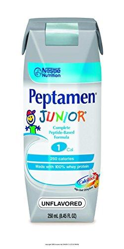 - Peptamen Junior Complete Peptide-Based Formula, Unflavored, 8.5 fl oz Box, 24 Pack