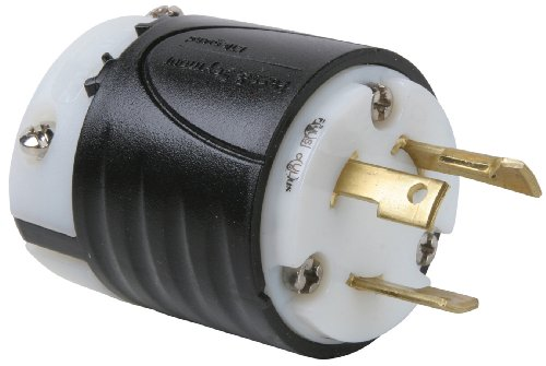Legrand - Pass & Seymour L530PCCV3 Industrial Specification Grade Turn Lock Plug, 30-Amp 125-volt Two Pole 3 Wire ()