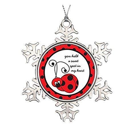 Itty Bitty Snowflakes - EvelynDavid Snowflake Ornament Itty Bitty Ladybug Love Ornament