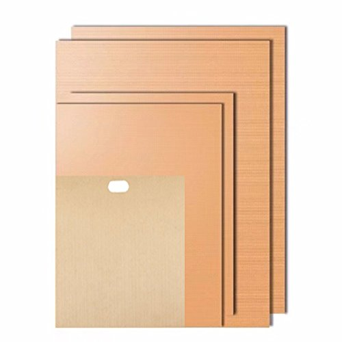 Homaker Copper Grill and Bake Mats with Free Gift Reusable Toaster Bag (set of 5) Miracle Barbecue solution for Gas, Charcoal or Electric Grill