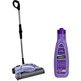 Shark 12  Rechargeable Floor and Carpet Sweeper, V2945Z with Shark Carpet Buddy No Rinse Carpet Cleaner, 32 oz