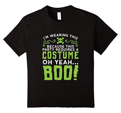 Kids Last Minute Halloween Party Costume Idea Tshirt For Parties 8 Black (Last Minute Halloween Costume Ideas For Kids)