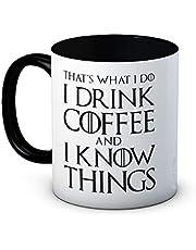 Dat is wat ik doe drink ik koffie en ik weet dingen - grappige koffie of thee mok