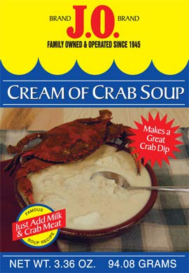 (J.O. Cream of Crab Soup 3.36 OZ (Just add Milk & Crab Meat))