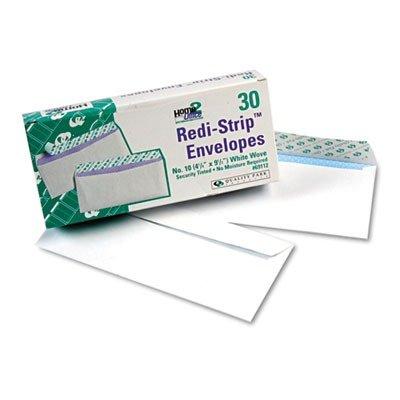((3 Pack Value Bundle) QUA69112 Redi-Strip Security Tinted Envelope, Contemporary, 10, White, 30/Box)