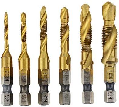 Hand Tap Drill Bits HSS 4341 Screw Spiral Point Thread M3 M4 M5 M6 M8 M10 Metalworking Hex Shank Machine Taps Kit Metric Plug professional Color : M3