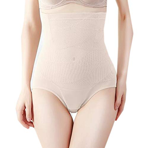 Price comparison product image HXZB Women's Thin Slimming Panty High-Waist Abdomen in Briefs Butt Lifter, Skincolor, L