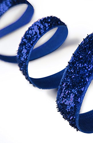 - KGS Christmas Glitter Ribbon | 40 Yards Spool | 1 roll/Pack (Royal Blue)