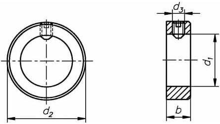 Reidl Stellringe 20 mm DIN 705 Stahl blank 10 St/ück