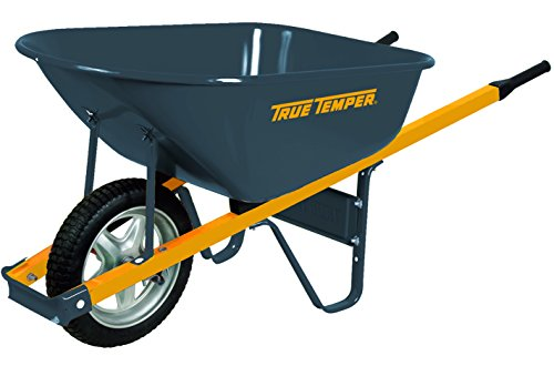 True-Temper-6-Cubic-Foot-Never-Flat-Tire-Steel-Wheelbarrow-R6STSP25