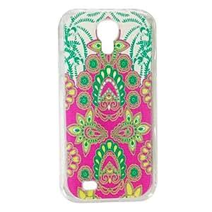MOM Peacock Tail Flower Pattern Plastic Hard Case for Samsung S4 I9500