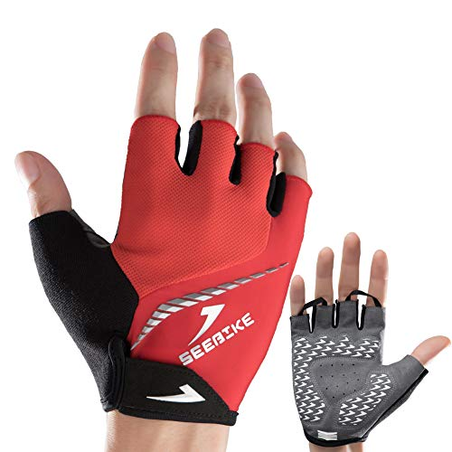 Avantwolf Imported lambskin Leather Motorcycle Gloves Mountain Bike Cycling Glove Shockproof Waterproof Wear-resistant MTB Outdoor Sports Full Finger Motobike Glove