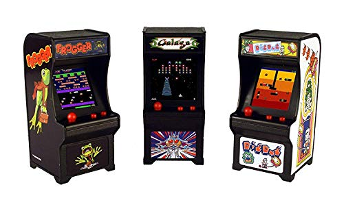 Tiny Arcade Games Gift Box Bundle Set of 3 - Frogger - Dig Dug - Galaga ()
