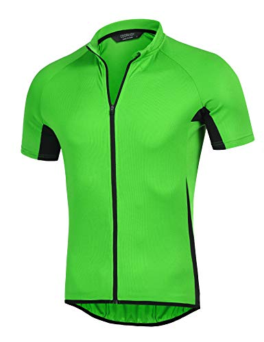 (COOFANDY Men's Short Sleeve Cycling Jersey Breathable Bike Biking T Shirt)