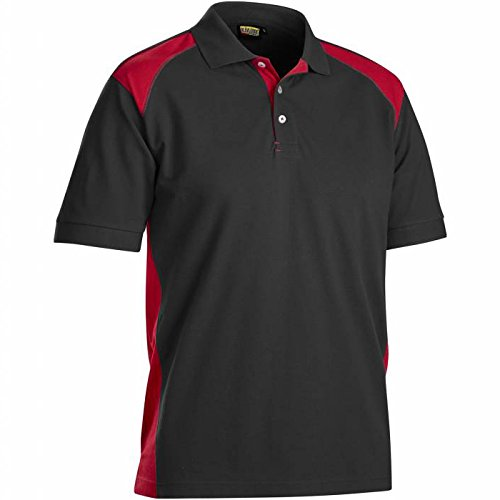 Blaklader 332410509956M Polo-Shirt, Size M, Black/Red by Blaklader (Image #2)