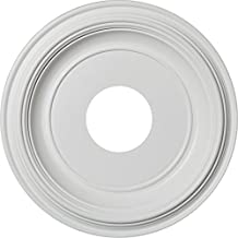 """Ekena Millwork CMP13TR 13""""OD x 3 1/2""""ID x 1 4""""P Traditional Ceiling Medallion (Fits Canopies up to 3 1/2""""), White"""