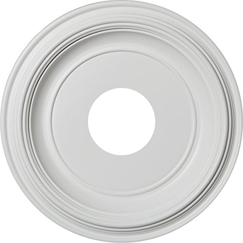 (Ekena Millwork CMP13TR Traditional Thermoformed PVC Ceiling Medallion, 13