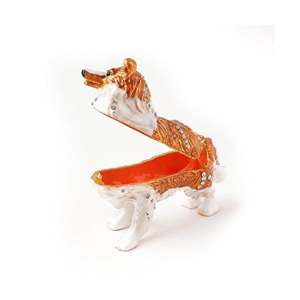 Apropos Vintage Style Hand-Painted Dog- English Shepherd Trinket Box 2