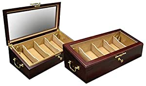 Prestige Import Group - The Modena Countertop Cigar Display Humidor - Color: Cherry