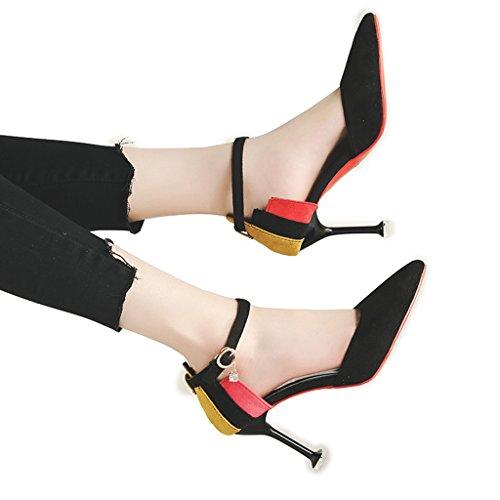 Napit 5cm Kengät 6 Korkeakorkoiset Naisille Sana Korkokengät Musta Sandalit Kissa Rainbow Stiletto wFOzXq6