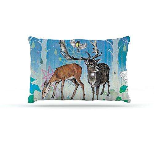 Kess InHouse Mat Miller Glade  Fleece Dog Bed, 50 by 60 , Multicolor