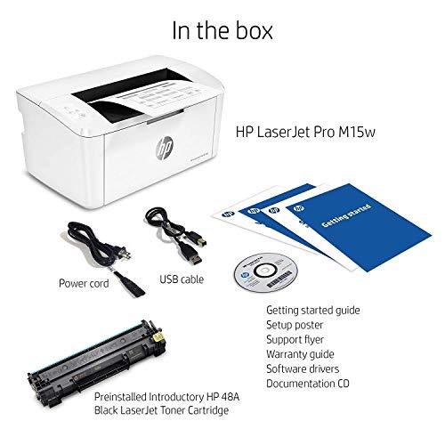 HP LaserJet Pro M15w Wireless Laser Printer (W2G51A)