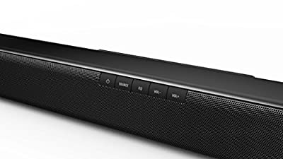 "2018 JVC 37"" 2.1 Bluetooth Sound Bar with Wireless Subwoofer, Dolby Digital, Wall Mount, Black"
